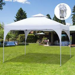 Outsunny 10' Outdoor 2-Tier Metal Frame Pop Up Canopy Back