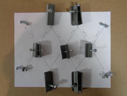 COLEMAN 10 x 10 CANOPY TRUSS CONNECTORS - COMPLETE METAL HAR