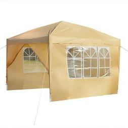 10' x 10' Easy Pop Up Gazebo Canopy Party Tent with Sidewall