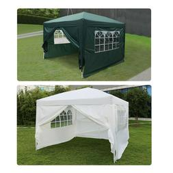 10' x 10' Easy Pop Up Gazebo Canopy Party Tent with Side