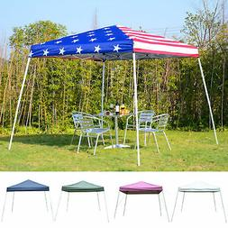 10' x 10' EZ Pop Up Canopy Outdoor Slant Leg Wedding Party T