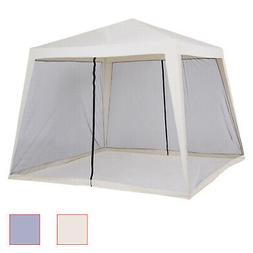 10' x 10' Folding Slant Leg Screened Sun Shelter Canopy