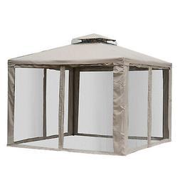 10' x 10' Outdoor Patio Gazebo Pavilion Canopy Tent Stee