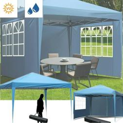 10' x 10'  Pop Up Canopy Tent Adjustable Height Instant Wate