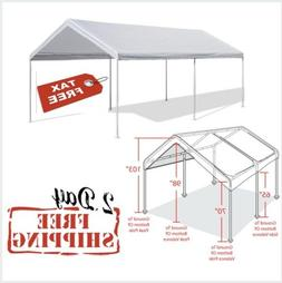 Caravan Canopy 10 X 20-Feet Domain Carport, White Frame & To