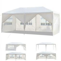 10'x20' White Outdoor Gazebo Canopy Wedding Party Tent 6 Rem