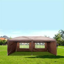 "10"" X 20"" Outdoor Patio EZ POP UP Gazebo Party Tent Wedding"