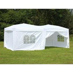 10 x 20 Palm Springs Pop Up WHITE Canopy Gazebo Party Tent w