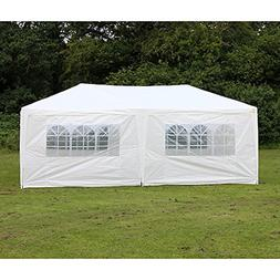 Palm Springs 10 X 20 White Party Tent Gazebo Canopy with Sid