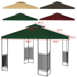 10'x10' 2-Tier Gazebo Top Canopy Cover Canopy Replacement Su