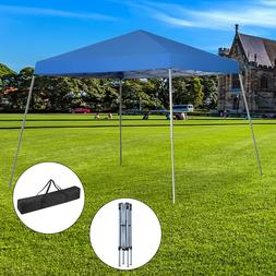 10'x10' EZ Pop Up Beach Foldable Shelter Party Shade Blue Ca