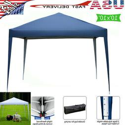 10'x10' EZ Pop Up Canopy Outdoor Patio Wedding Party Tent Ga