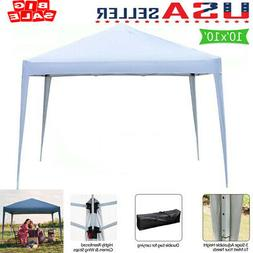 10'x10' EZ Pop Up Canopy Outdoor Patio Wedding Party Tent Fo