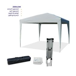 10'x10' EZ Pop Up Canopy Outdoor Dressed Leg Wedding Party T
