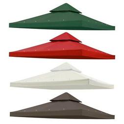 9.76'x9.76' Gazebo Top Canopy Replacement UV30 Sunshade Cove