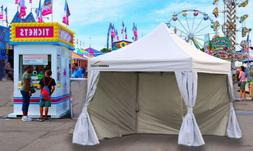 UNDERCOVER 10'x10' Instant Canopy with CRS Curtain Walls, Wh