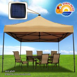 Pop Up Instant Canopy 10'X10' Tent with Solar LED Lighting S