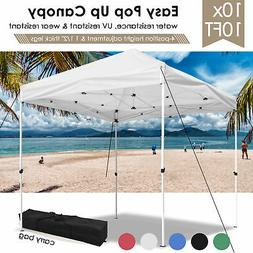 10x10' EZ Pop Up Canopy Tent Patio Outdoor Instant Gazebo Fo