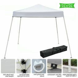 10'x10' Outdoor Pop Up Canopy Tent Folding Gazebo Wedding Pa