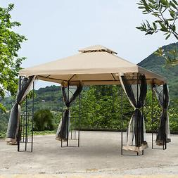Outsunny 10'x10' Steel Fabric Canopy Pop Up Square Gazebo