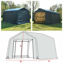 10'x15'x8' FT Storage Shed Logic Tent Shelter Car Garage Ste