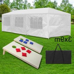 10'x30' Gazebo Canopy Party Wedding Tent+4 x 2' Foldable Woo