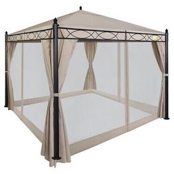 Palm Springs 10ft x 10ft Deluxe Patio Canopy with Mosquito M