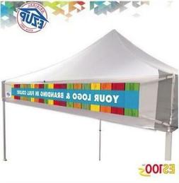 10x10 Custom E-Z Up Pop Up Tent Canopy Banner with Digital P