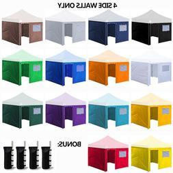 10x10 Enclosure Zipper Side Walls Kit  Panels For EZ Pop Up