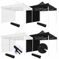 10x10' EZ Pop Up Canopy Commercial Tent Outdoor Business Gaz