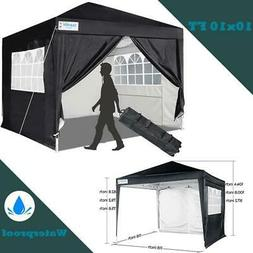 Quictent 10x10 EZ Pop Up Canopy Instant Party Tent Gazebo Bl