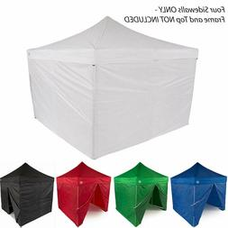 10x10 EZ Pop Up Canopy Tent Sidewalls Kit 4 WALLS ONLY Gazeb