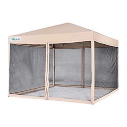 Quictent 10x10 Ez Pop up Canopy with Netting Gazebo Mesh Sid