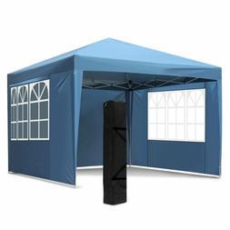 10X10FT EZ Pop Up Canopy Waterproof Wedding Tent Outdoor Gaz
