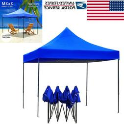 Waterproof Ez Pop Up Canopy 10x10ft Outdoor Instant Folding