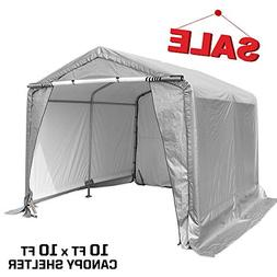 kdgarden 10x10x8 Feet Portable Shelter Shed Heavy Duty Outdo