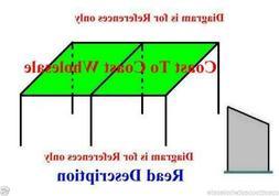 10x20 Canopy Angle Shade Tent Car Sport market after Tornado