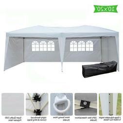 10x20' Easy Pop up Canopy Gazebo Pavilion Wedding Party Tent