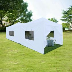 Quictent 10x20 Ft EZ Pop Up Canopy Party Tent with Sides Whe