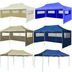 10x20ft Foldable Gazebo Pop Up Waterproof BBQ Party Tent Gar