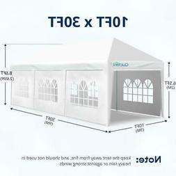 Quictent 10x30 FT Outdoor Party Wedding Tent Canopy Pavilion