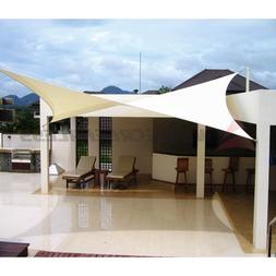 12' 16' 18' Rectangle Square Triangle Sun Shade Sail Yard Pa