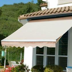 XtremepowerUS Patio Manual Retractable Sun Shade Awning - Ta