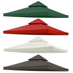 12x12' Gazebo Canopy Top Replacement 2-Tier Pavilion Sunshad