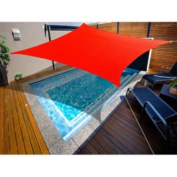 14' x 16' Rectangle Waterproof Polyester Shade Sail Canopy b