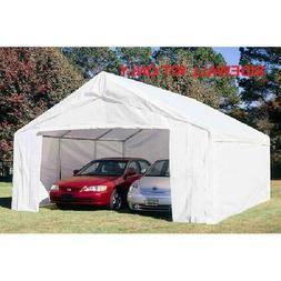 King Canopy 18 ft x 20 ft Carport Canopy Sidewall Kit w/ Fla