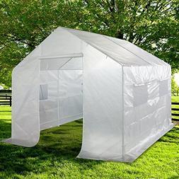 Quictent 2 Doors Portable Greenhouse Large Green Garden Hot
