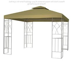 Kenley 2-Tier 10x10 Replacement Gazebo Canopy Awning Roof To