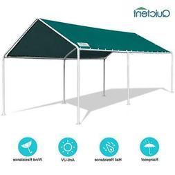 Quictent Grey Heavy Duty Garage Car Tent Shelter Carport Awn