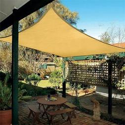 10'X13' Rectangle Sun Shade Sail Garden Patio Sunscreen Awni